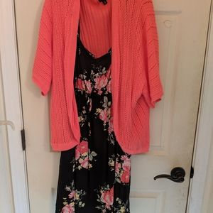 Sweaters - Coral crochet sweater shrug